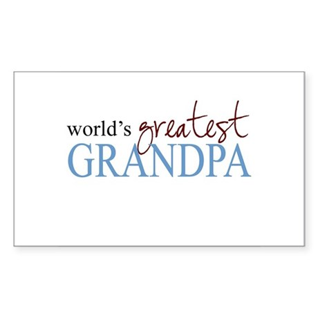 World's Greatest Grandpa Rectangle Sticker