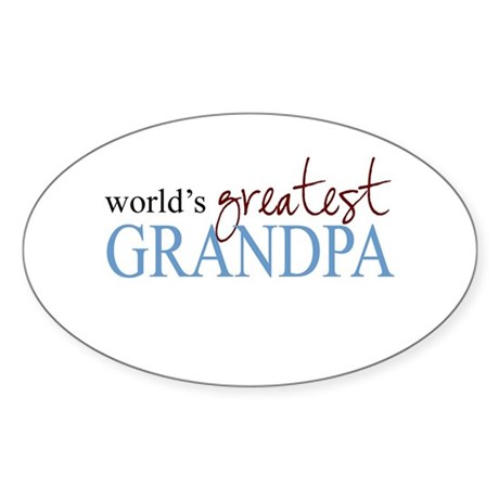 World's Greatest Grandpa Oval Sticker