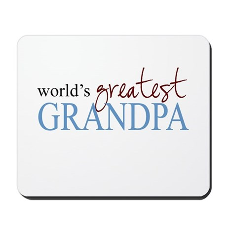 World's Greatest Grandpa Mousepad