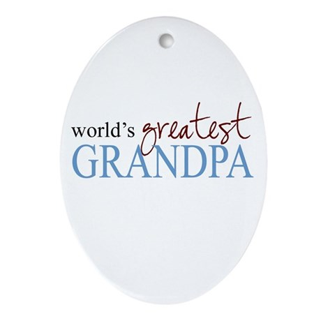 World's Greatest Grandpa Oval Ornament