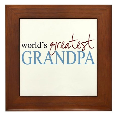 World's Greatest Grandpa Framed Tile