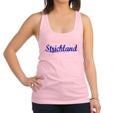 Strickland, Blue, Aged Racerback Tank Top