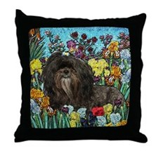 Shih Tzu Fine Art Hershey Bear Throw Pillow