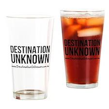 Destination Unknown Logo Black Drinking Glass