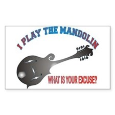 BLUEGRASS MANDOLIN Rectangle Decal
