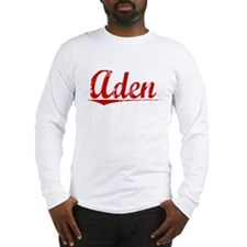 Aden, Vintage Red Long Sleeve T-Shirt