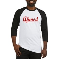 Ahmed, Vintage Red Baseball Jersey