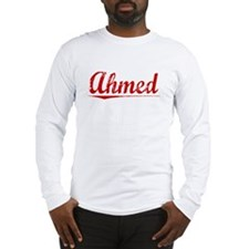 Ahmed, Vintage Red Long Sleeve T-Shirt