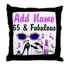 HAPPY 65TH BIRTHDAY Throw Pillow