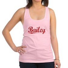 Bailey, Vintage Red Racerback Tank Top