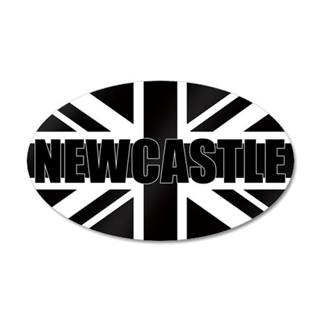 Newcastle England 20x12 Oval Wall Decal