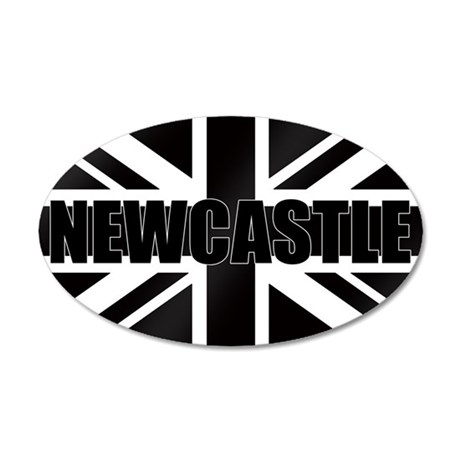 Newcastle England 35x21 Oval Wall Decal
