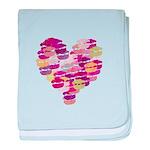 Heart of Kisses baby blanket