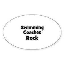 SWIMMING COACHES Rock Oval Decal
