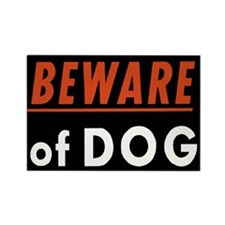BEWARE OF DOG Rectangle Magnet