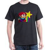 Rainbow Island Black T-Shirt