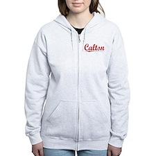 Calton, Vintage Red Zip Hoodie