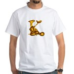 Blown Gold K White T-Shirt