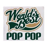 Pop Pop (Worlds Best) Throw Blanket