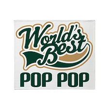 Pop Pop (Worlds Best) Throw Blanket