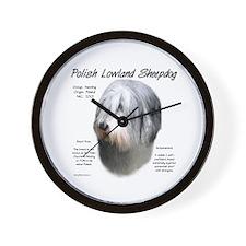Polish Lowland Sheepdog Wall Clock