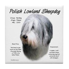 Polish Lowland Sheepdog Tile Coaster