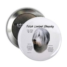 Polish Lowland Sheepdog Button