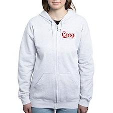 Cray, Vintage Red Zip Hoodie