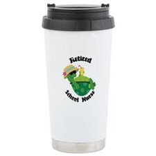 Retired School Nurse Ceramic Travel Mug