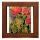 Cactus! Bright southwest art! Framed Tile