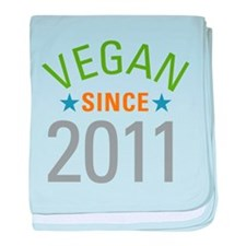 Vegan Since 2011 baby blanket