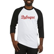 Dubuque, Vintage Red Baseball Jersey