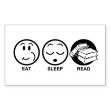 Eat Sleep Read Decal