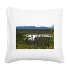 Yukon Pond Square Canvas Pillow