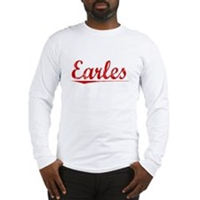 Earles, Vintage Red Long Sleeve T-Shirt