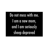 Sheep depraved Rectangle Magnet