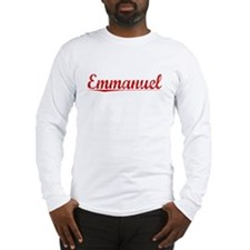 Emmanuel, Vintage Red Long Sleeve T-Shirt