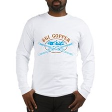 Copper Crossed-Skis Badge Long Sleeve T-Shirt