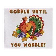 GOBBLE... Throw Blanket