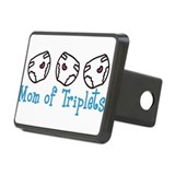 Mom Of Triplets Rectangular Hitch Cover