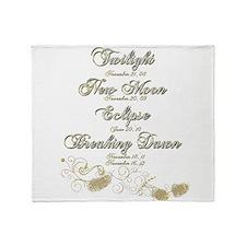 Twilight Saga Dates Sparkly Throw Blanket