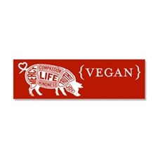 Words to Live By Pig Car Magnet, Red-Orange
