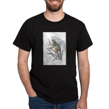 Siamiri Monkey (Front) Black T-Shirt