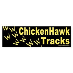 Chicken Hawk Tracks Bumper Sticker