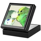 WHISPERING PARAKEET Keepsake Box