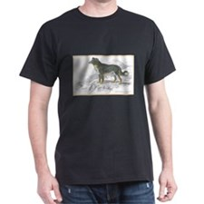 Shepherd Dog (Front) Black T-Shirt