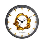 Blown Gold O Wall Clock
