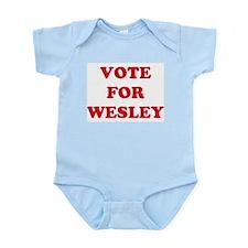 VOTE FOR WESLEY  Infant Creeper