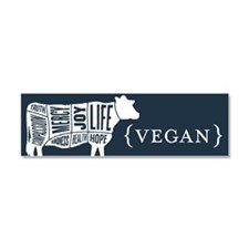 Words to Live By Cow Car Magnet, Dark Blue