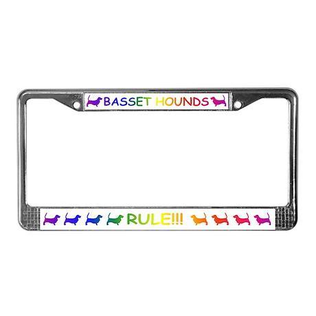 Basset Hounds License Plate Frame